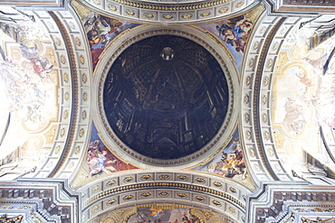 Fake dome by Andrea Pozzo at the church of Saint Ignazio da Loyola (St. Ignatius of Loyola), Rome, Lazio, Italy, Europe