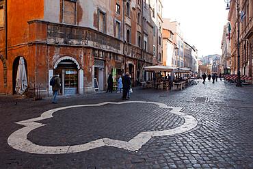 The Jewish ghetto via del portico di Ottavia