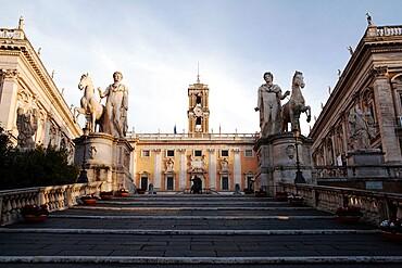Castor and Pollux at the Campidoglio (Capitoline Hill), Rome, Lazio, Italy, Europe
