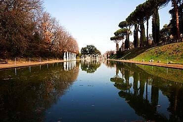 Canopus full view, Villa Adriana (Hadrian's Villa), Tivoli, Lazio, Italy, Europe
