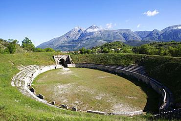 Full view of Alba Fucens ancient Roman Amphiteather