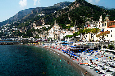The beach, Amalfi, Costiera Amalfitana, UNESCO World Heritage Site, Campania, Italy, Europe
