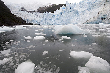 Garibaldi Glacier, Darwin National Park, Tierra del Fuego, Patagonia, Chile, South America