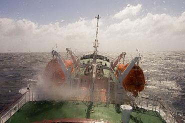 Antarctic Dream navigation on rough seas near Cape Horn, Drake Passage, Tierra del Fuego, Patagonia, Chile, Antarctic Ocean, South America