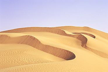Sand dunes, Erg Murzuq, Fezzan, Sahara Desert, Libya, North Africa, Africa