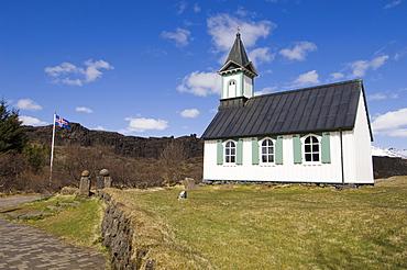 Church, Thingvellir National Park, UNESCO World Heritage Site, Iceland, Polar Regions