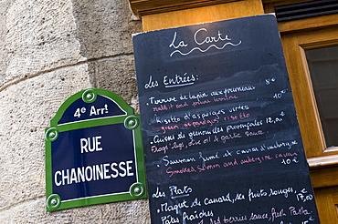 Brasserie au Bougnat, Rue Chanoinesse, Ile de la Cite, Paris, France, Europe