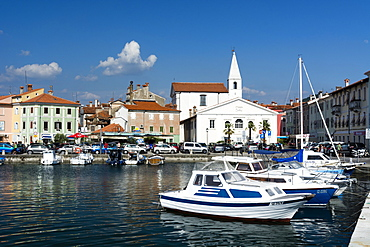 The port of Isola surrounded by the old town, Isola, Slovenia, Europe
