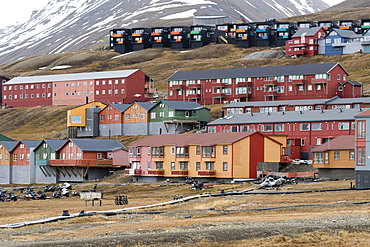Longyearbyen, Spitsbergen, Svalbard Islands, Arctic, Norway, Europe