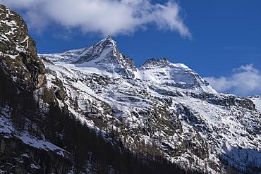The Bec de Montchair (3554 mt.), and Cime de Breuil (3419 mt.), Gran Paradiso National Park, Aosta Valley, Italy.