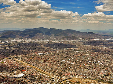 Aerial view of Mexico City, Mexico, North America
