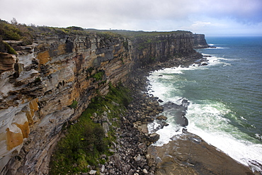 Australian coast above Manley, Sydney, New South Wales, Australia, Pacific