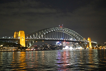 Sydney Harbour at night, Sydney, New South Wales, Australia, Pacific