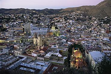 View over the city, Guanajuato, UNESCO World Heritage Site, Mexico, North America