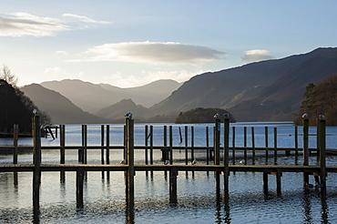 View towards Borrowdale, Derwentwater, Keswick, Lake District National Park, Cumbria, England, United Kingdom, Europe