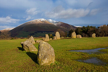 Castlerigg Stone Circle, Keswick, Lake District National Park, UNESCO World Heritage Site, Cumbria, England, United Kingdom, Europe