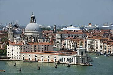 Chiesa Santa Maria Della Salute, Grand Canal, viewed from Chiesa San Giorgio Campanile, UNESCO World Heritage Site, Venice, Veneto, Italy, Europe