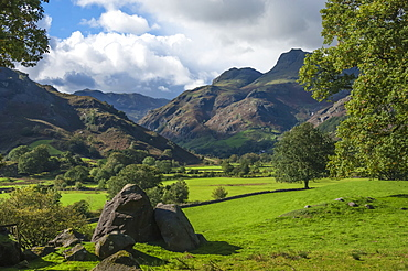 Langdale Pikes in English Lake District National Park, England, Europe
