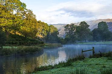 Elter Water lake in Lake District, England, Europe
