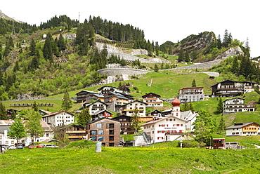 Stuben am Arlberg, ski resort, Vorarlberg, Austria, Europe