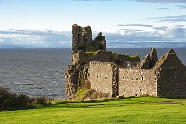 The 13th century Dunure Castle, built by Clan Kennedy, Carrick Coast, Ayrshire, Scotland, United Kingdom, Europe