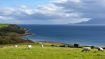 Argyll and Bute looking west to Kintyre, Western Isles of Scotland, United Kingdom, Europe