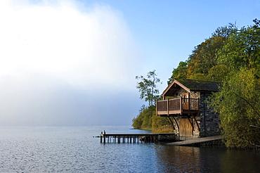 Boathouse, Ullswater, Lake District National Park, UNESCO World Heritage Site, Cumbria, England, United Kingdom, Europe