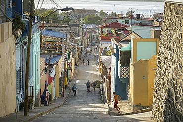 Street scene at the Tivoli neighborhood, Santiago de Cuba, Cuba, West Indies, Caribbean, Central America
