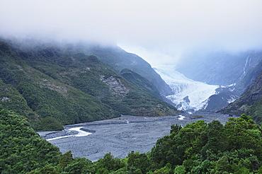 Franz Josef Glacier, Westland Tai Poutini National Park, UNESCO World Heritage Site, West Coast, South Island, New Zealand, Pacific