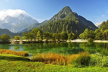 Lake Jasna and Julian Alps, Kranjska Gora, Slovenia, Europe
