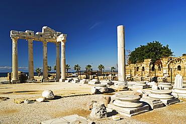 Temple of Apollo, Side, Antalya Province, Anatolia, Turkey, Asia Minor, Eurasia