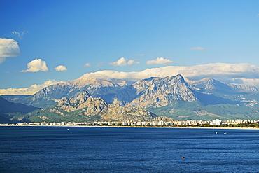 View of Taurus Mountains and Mediterranean Sea, Antalya Province, Anatolia, Turkey, Asia Minor, Eurasia