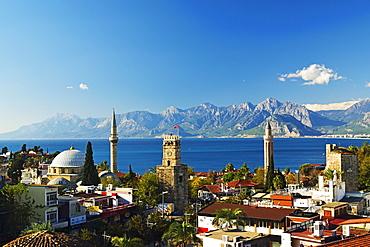 Kaleici old city centre, Antalya, Taurus Mountains and Mediterranean Sea, Antalya Province, Anatolia, Turkey, Asia Minor, Eurasia