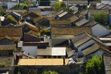 Rooftops, Dali Old Town, Yunnan Province, China, Asia