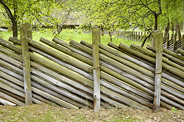 Fencing from the Latgale region, Latvian Open Air Ethnographic Museum (Latvijas etnografiskais brivdabas muzejs), near Riga, Latvia, Baltic States, Europe