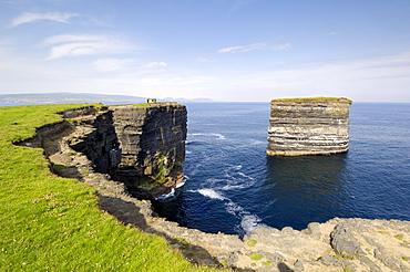 Sea Stack at Downpatrick Head, near Ballycastle, County Mayo, Connacht, Republic of Ireland (Eire), Europe