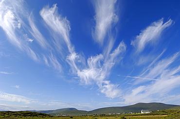 Big sky over Achill Island near Cashel, County Mayo, Connacht, Republic of Ireland (Eire), Europe