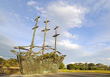 National Famine Monument, commemorating 150 year anniversary of the Irish Famine, Murrisk, near Westport, County Mayo, Connacht, Republic of Ireland, Europe