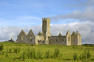 Ross Errilly Franciscan Friary, near Headford, County Galway, Connacht, Republic of Ireland, Europe