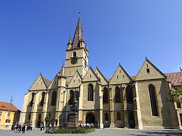 Evangelical Cathedral, Piata Huet, Sibiu, Transylvania, Romania, Europe