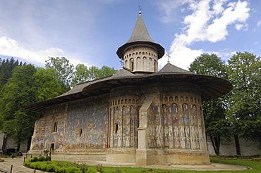 Painted monastery of Voronet, Moldavia and Southern Bukovina, Romania, Europe