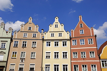 Traditional architecture, Altstadt, Landshut, Bavaria, Germany, Europe