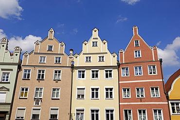 Traditional architecture, Altstadt, Landshut, Bavaria, Germany, Europe