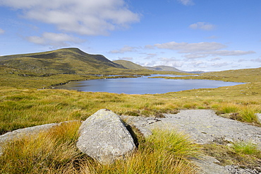 Loch Enoch, looking towards Merrick, Galloway Hills, Dumfries and Galloway, Scotland, United Kingdom, Europe