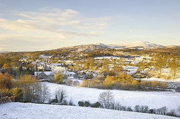 Gatehouse of Fleet in winter snow, Dumfries and Galloway, Scotland, United Kingdom, Europe