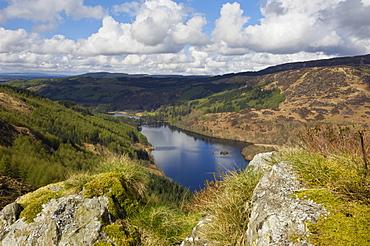 Glen Trool, seen from White Bennan, Dumfries and Galloway, Scotland, United Kingdom, Europe
