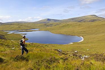 Loch Neldricken, Galloway Hills, Dumfries and Galloway, Scotland, United Kingdom, Europe