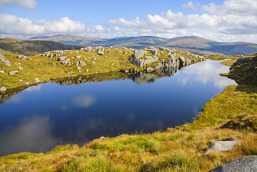 Dow Loch, Rig of the Jarkness and Craiglee walk, Galloway Hills, Dumfries and Galloway, Scotland, United Kingdom, Europe