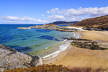 Singing Sands, beach, Kentra, Ardnamurchan Peninsula, Lochaber, Highlands, Scotland, United Kingdom, Europe