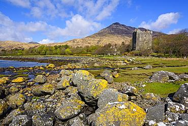Moy Castle, Lochbuie, Isle of Mull, Inner Hebrides, Argyll and Bute, Scotland, United Kingdom, Europe